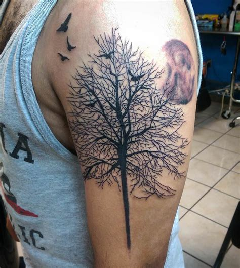 bird tree tattoo bird half sleeve www pixshark images