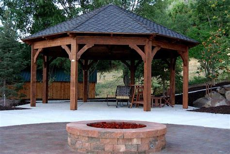 cool backyard fire pits gazebos with fire pits pictures pixelmari com