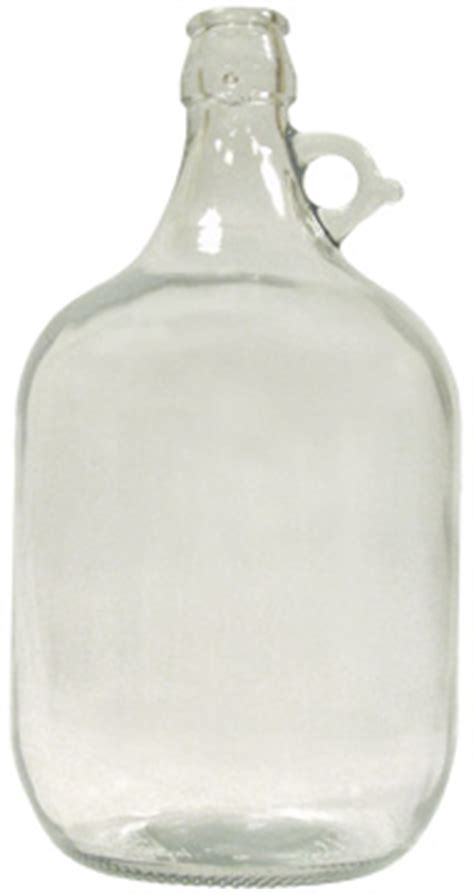 Demijohn L by Brouwland 5 Litre Clear Glass Demijohn One Handle