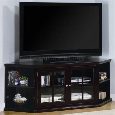 wooden corner tv cabinet best 15 of black corner tv cabinets with glass doors
