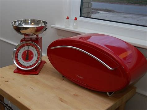 typhoon vintage red 4 piece bread bin and canister set rebecca and keith s 1961 split level house retro renovation