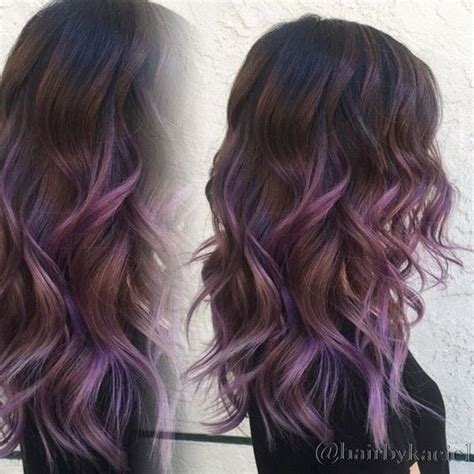 shag haircut brown hair with lavender grey streaks 17 best ideas about purple highlights on pinterest
