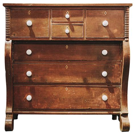 19th Century Country Style Pine 19th Century Pine Empire Style Chest Of Drawers At 1stdibs