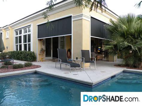electric patio shades patio drop shades exterior motorized retractable shades