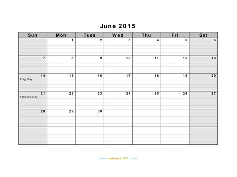 Blank Calendar For June 2015 Search Results For Template For June Calendar 2015