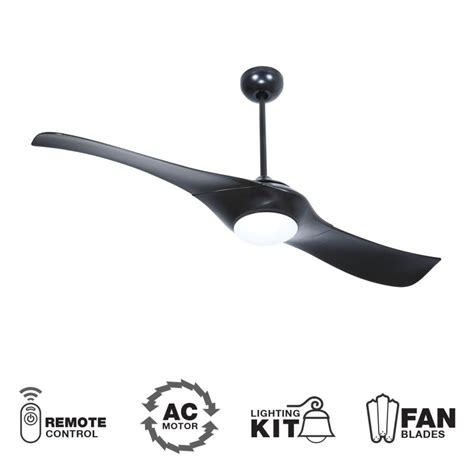 2 blade ceiling fan craftmade vg54fb2 flat black 54 quot 2 blade indoor ceiling
