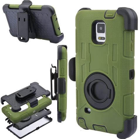 Stand Holster Belt Clip Samsung Note 4 Armor Future Hybird 2015 note 4 duty heavy rugged armor style belt clip holder shockproof for