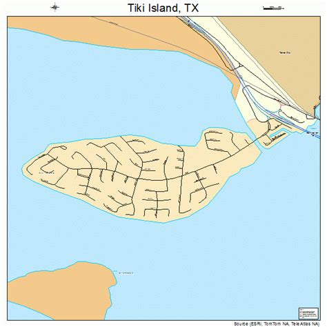 texas islands map tiki island texas map 4872989