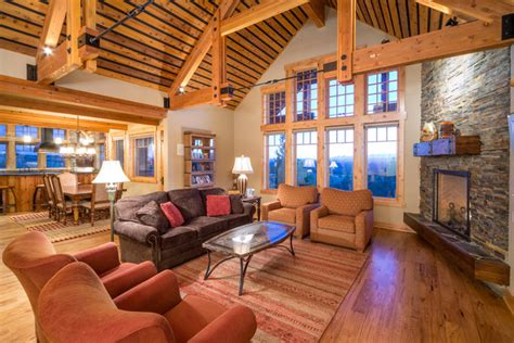 best open floor house plans rustic open floor plans brasada ranch home living room with dining and kitchen
