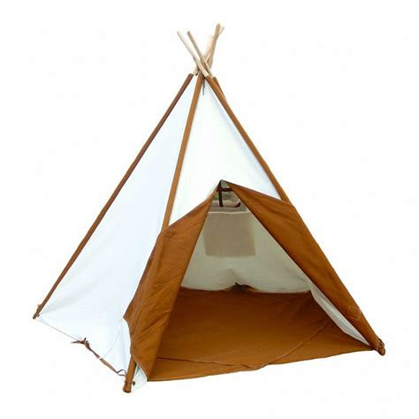 backyard teepee tent children s teepee tent for indoor and outdoor includes cotton canvas and wood poles
