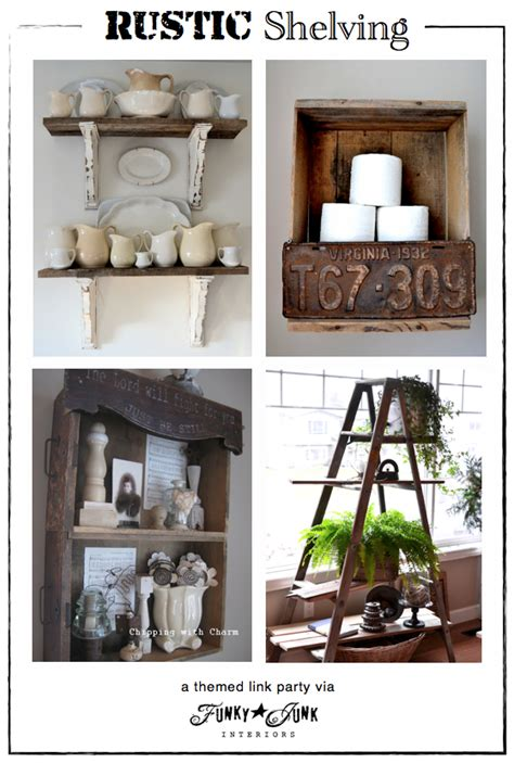 funky diy home decor party junk 201 diy rustic shelving ideas license