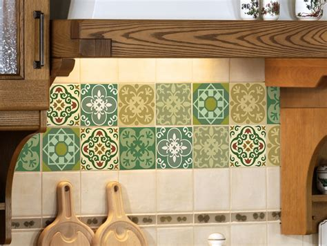 Kitchen Tile Murals Tile Art Backsplashes tile decals set of 15 tile stickers for kitchen tiles