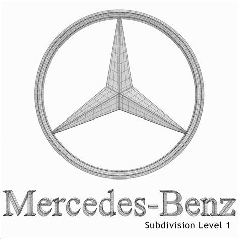 logo mercedes benz 3d mercedes benz logo 3d model max obj 3ds fbx dxf stl