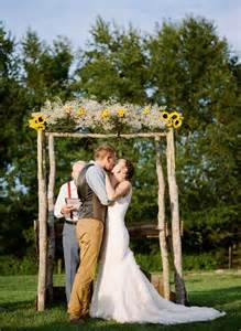 diy arbor with sunflowers and baby s breath 53 wedding arches