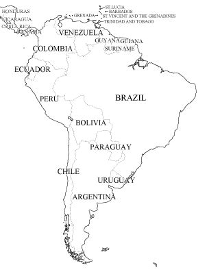 south america map black and white southamerica wintery