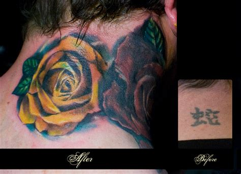 good cover up tattoos ideas great flowers on the neck cover up ideas