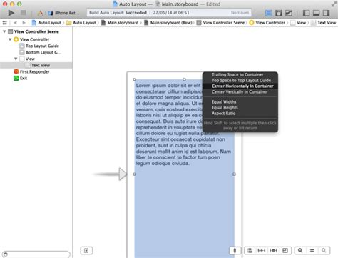 xcode textview layout getting started with auto layout in xcode 5 推酷