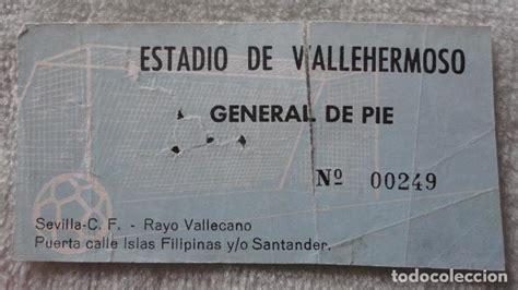entradas rayo vallecano deportivo entrada estadio vallehermoso rayo vallecano sev comprar