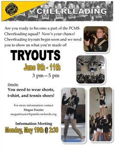 Cheerleading Tryouts Publisher Flyer Free Download And Edit Cheer Pinterest Cheer Mom Cheerleading Flyer Template