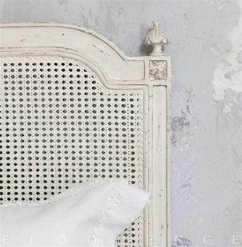 eloquence 174 blanka cane king headboard in antique white