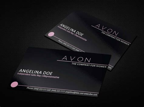 Black Avon Business Card Template Business Cards Lab Avon Business Card Template