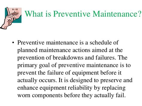 Of Iowa Mba Pm Schedule by Preventive Maintenance