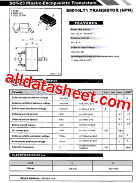 transistor c9014 equivalent cd9014 pinout pinouts images frompo