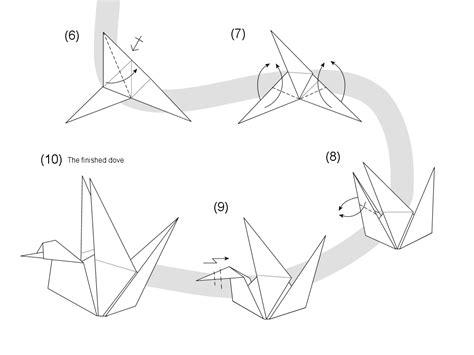 Origami Dove Pattern - origami dove diagram