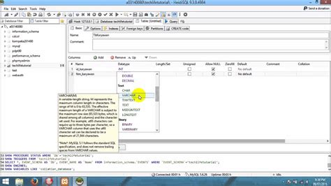 tutorial membuat database mysql xp tutorial heidisql cara membuat database table dan