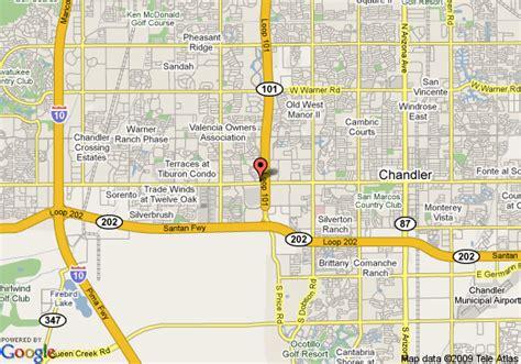 chandler arizona united states map map of residence inn chandler chandler