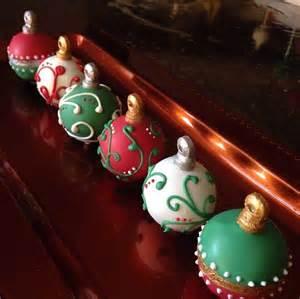 christmas ornament cake balls cake balls pops truffles