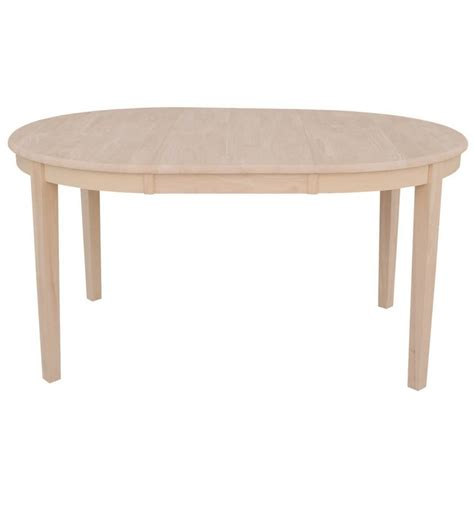 oblong kitchen tables 60 inch shaker oval butterfly dining table bare wood