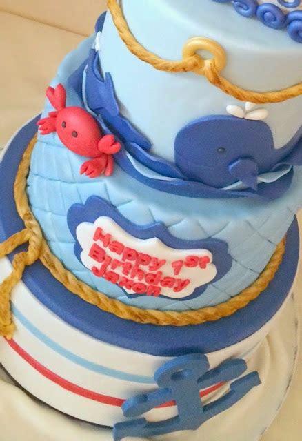 nautical themed birthday cake pink cake nautical mini crab theme birthday cake