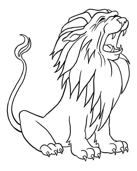 free printable lion coloring pages for kids