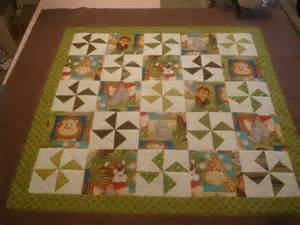 Jungle Quilt by Because I Say Sew Jungle Baby Quilt Top