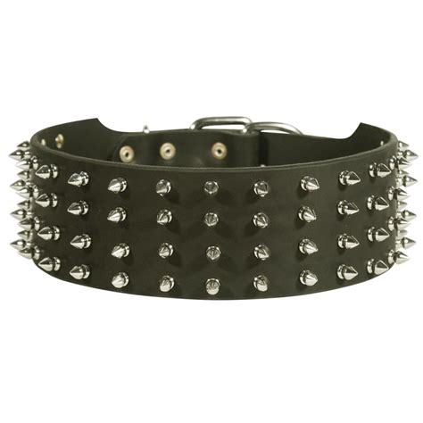 rottweiler collars 3 inch wide spiked leather rottweiler collar rottweiler store