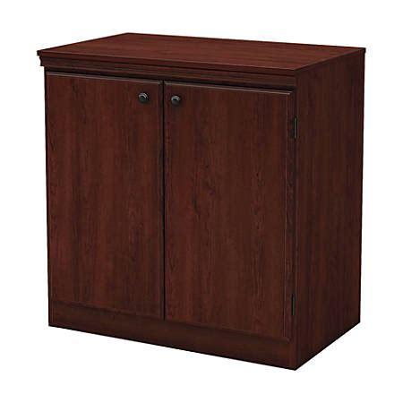 2 Door Stackable Storage Cabinet by South Shore 2 Door Storage Cabinet Royal Cherry By