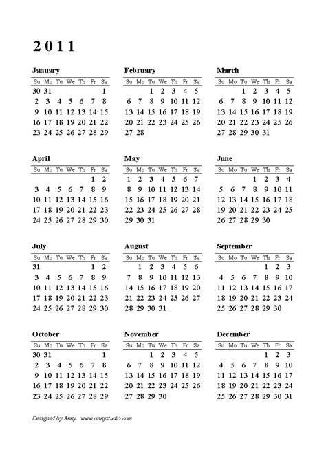 2011 calendar template edojic 2011 calendar printable free