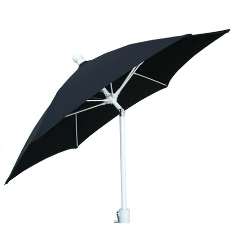 9 Ft Aluminum Patio Umbrella With Black Acrylic 9tcrw T Black Patio Umbrellas