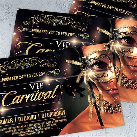 template flyer vip vip carnival premium flyer template facebook cover