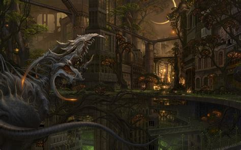 wallpaper abyss fantasy city city wallpaper and background 1680x1050 id 294405