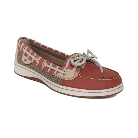 womens sperry top sider angelfish eyelet boat shoe sperry top sider womens angelfish boat shoes in brown red