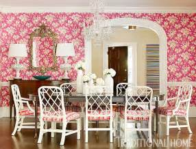 pink dining room transitional dining room