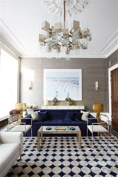 navy couch living room a velvet touch the potted boxwood