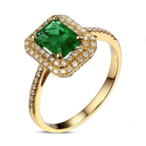 designer 2 carat emerald and halo