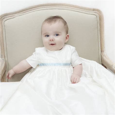 baby boy gowns boys silk christening gown harry by adore baby notonthehighstreet