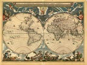 World Map 1600 by Phd In Everything