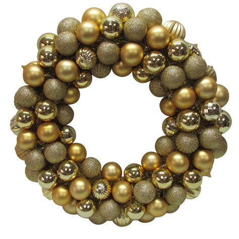 home accents holiday 20 in gold plastic ball christmas