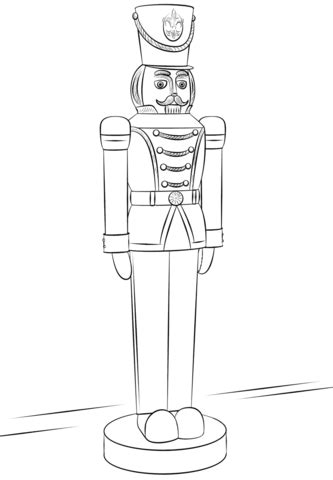 nutcracker free colouring pages