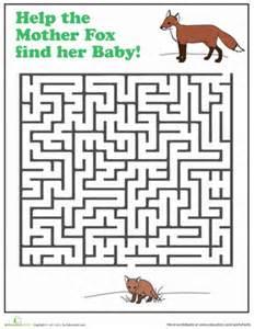 fox maze worksheet education com
